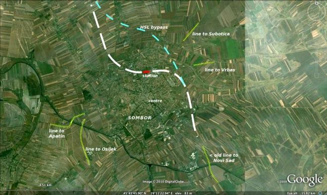 New HSL Budapest - Baja - Novi Sad at Sombor, and regional lines.