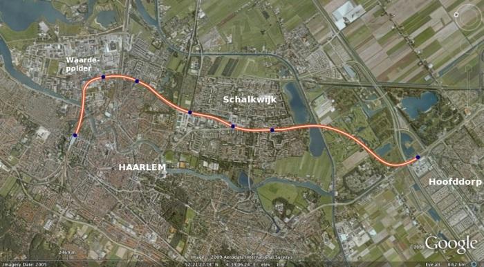 Lichte metro van Haarlem naar Hoofddorp en Aalsmeer