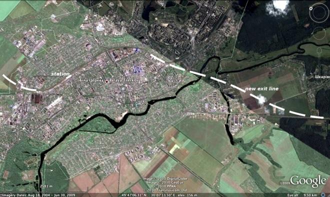 High-speed rail line Kiev - Crimea