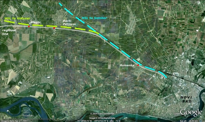 Regional rail line Novi Sad - Osijek