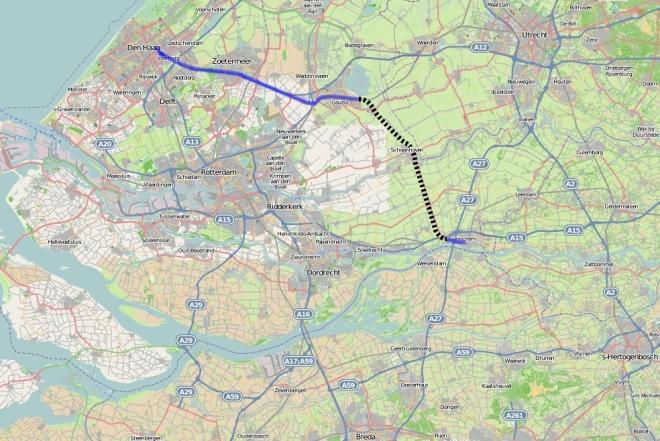 Spoorlijn Gouda - Schoonhoven - Gorinchem.