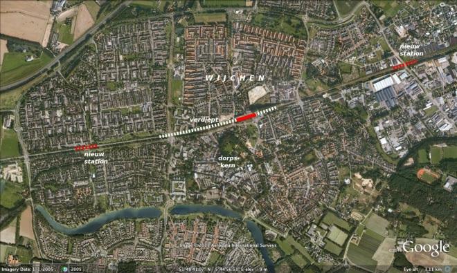 Twee nieuwe stations in Wijchen, Gelderland.
