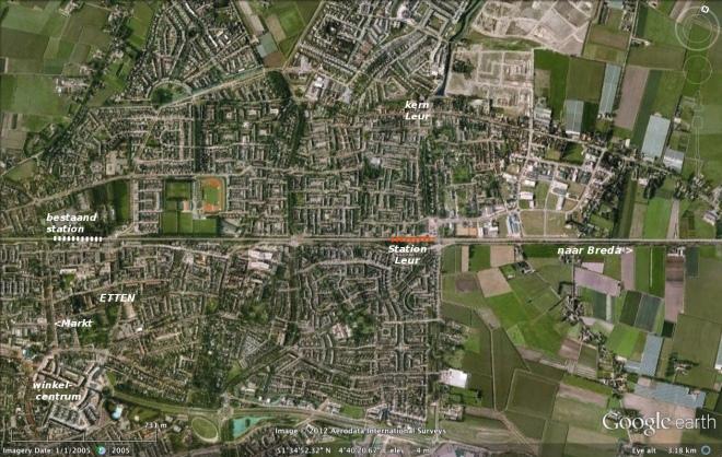 Nieuw station Leur in Etten-Leur.