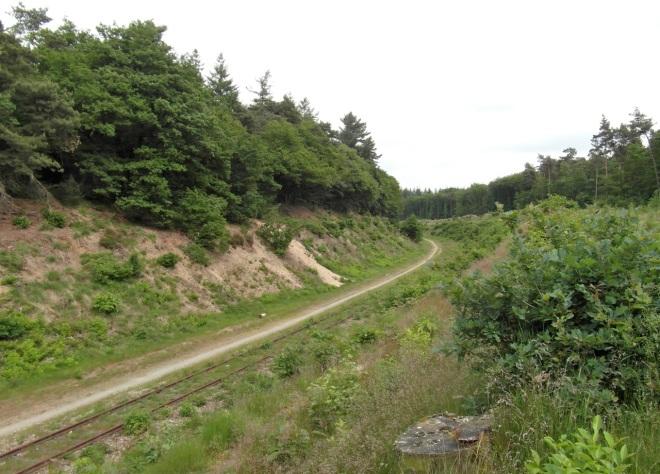 Line Nijmegen - Kleve on ridge