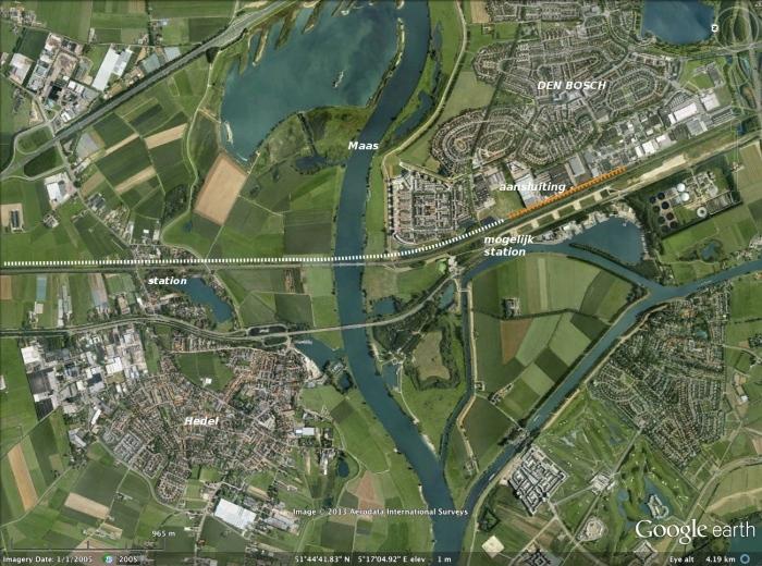 Verschuiving HSL tracé bij Maasbrug